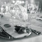 Bordopdækning til bryllup